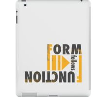 Form Follows Function iPad Case/Skin