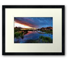 Sunset from up top Framed Print