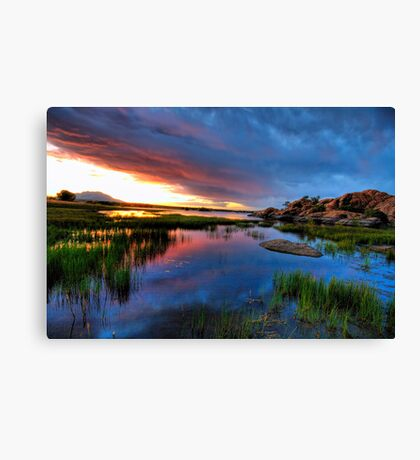 Sunset from up top Canvas Print