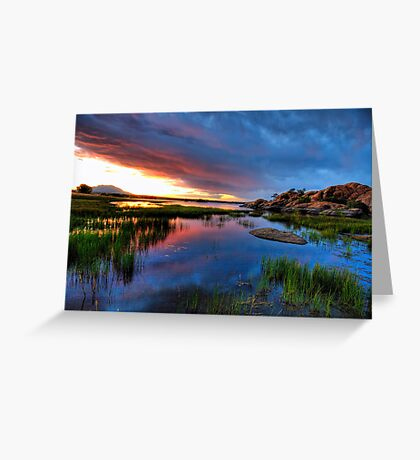 Sunset from up top Greeting Card