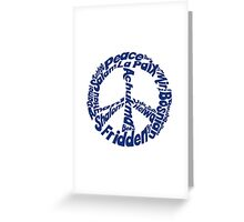 Peace in different languages Greeting Card