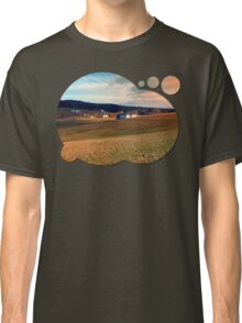Meadows and farms in rural scenery | landscape photography Classic T-Shirt