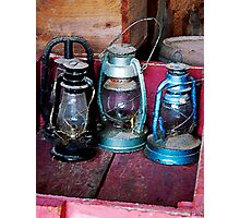 Three Kerosene Lamps Photographic Print