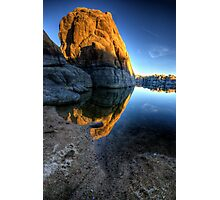 Last Light on Big Rock Photographic Print