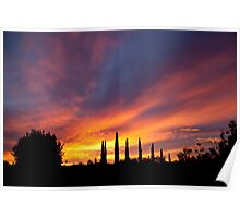 New Years Day Sunset 1 Poster