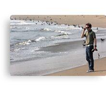 Hip Hop Star By The Beach Canvas Print