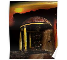 ancient pavilion....... abstract time structures Poster
