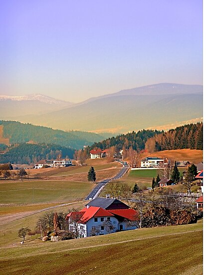 Country road in amazing panorama   landscape photography by Patrick Jobst