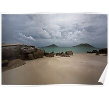 On the edge of a cyclone 2, Lizard Island QLD Poster