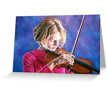 Violin Girl Greeting Card