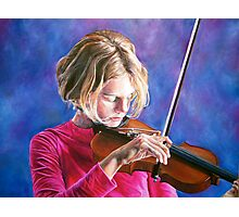 Violin Girl Photographic Print