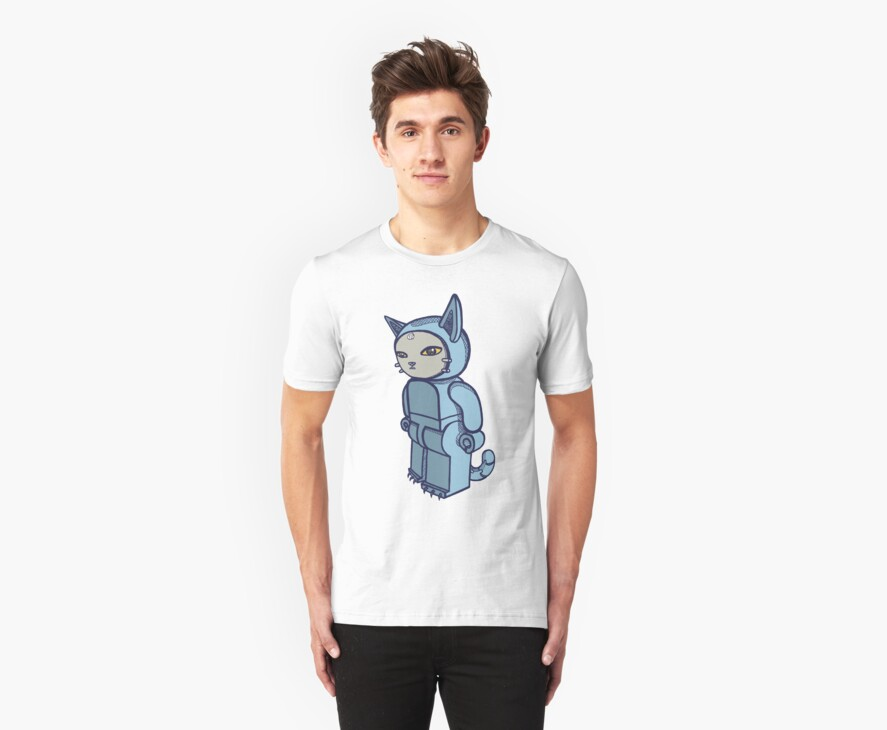 Blocky Cat Robot Blue by Adew