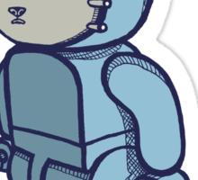 Blocky Cat Robot Blue Sticker