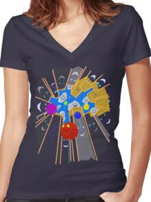 Helium Happiness Women's Fitted V-Neck T-Shirt