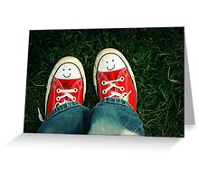 Shoes With Smiles Greeting Card