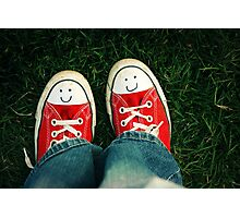 Shoes With Smiles Photographic Print