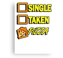 SIngle taken pizza checkboxes ticks Canvas Print