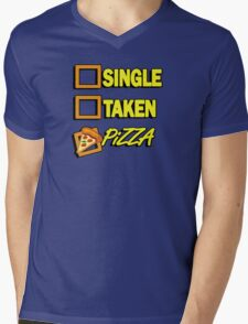 SIngle taken pizza checkboxes ticks Mens V-Neck T-Shirt