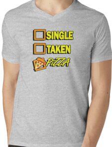 SIngle taken pizza checkboxes ticks Mens V-Neck T-Shirt