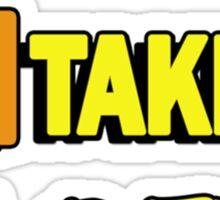 SIngle taken pizza checkboxes ticks Sticker