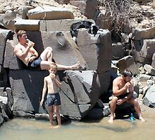 "After the swim... ""Die Kranse"" Our special swimming place in the Orange River, Free State, South Africa. by Qnita"