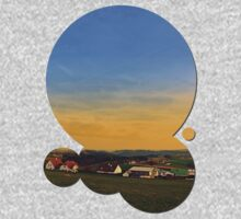 Sunset, the village and panorama | landscape photography One Piece - Long Sleeve