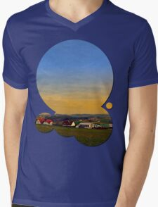Sunset, the village and panorama | landscape photography Mens V-Neck T-Shirt