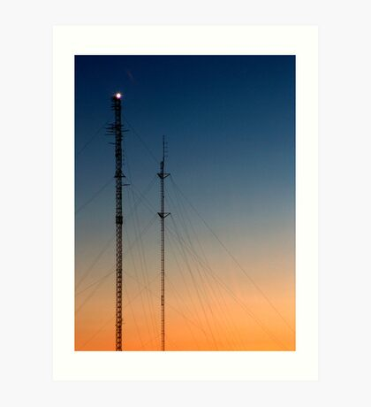Fortitude - Sunset with Communication Towers Art Print