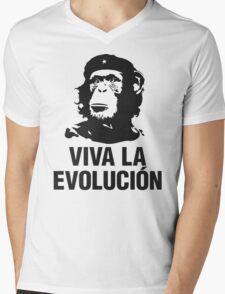 VIVA LA EVOLUCION Mens V-Neck T-Shirt