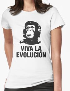 VIVA LA EVOLUCION Womens Fitted T-Shirt