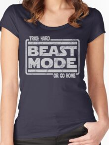 Beast Mode - Train Hard Or Go Home Women's Fitted Scoop T-Shirt