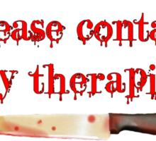 If I start stabbing... Sticker