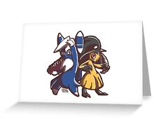 Meowstic and Mawile Greeting Card