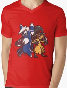 Meowstic and Mawile Mens V-Neck T-Shirt