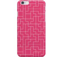 White Tetris Pattern iPhone Case/Skin