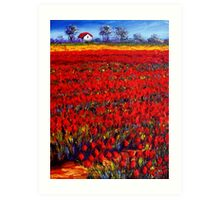 Home in the Red Fields Art Print
