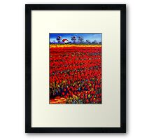 Home in the Red Fields Framed Print