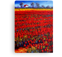 Home in the Red Fields Canvas Print