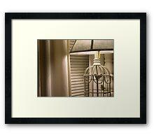 beige Framed Print