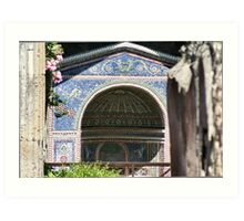 Bath house behind dwelling in Pompeii Art Print
