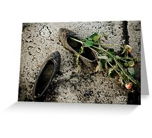 Shoes on the Danube Greeting Card