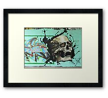Screaming Skull Framed Print