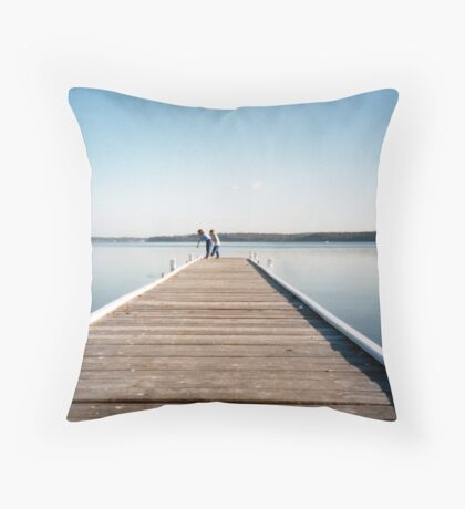 Warners Bay Jetty Throw Pillow