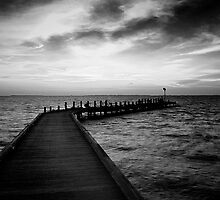 Dawn over the Jetty by Karen Willshaw