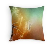 make a wish_colorful_card Throw Pillow