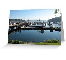 Friday Harbor, San Juan Islands, Washington Greeting Card