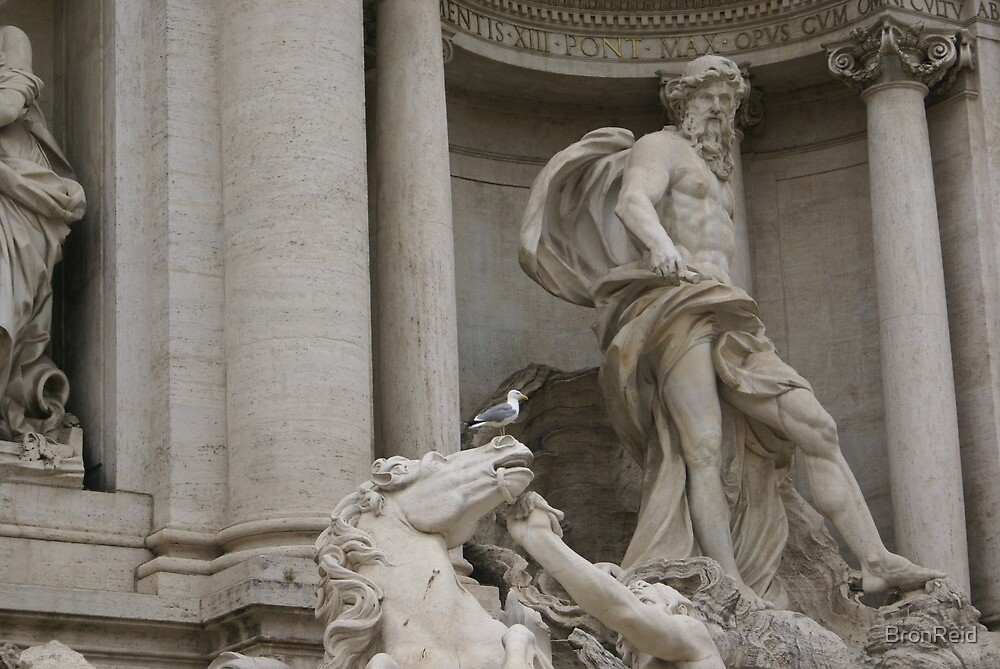 Trevi Fountain, Rome - Oceanus detail by BronReid