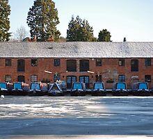 Britains Big Freeze-Ice bound barges by Jason Clarke