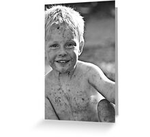 enjoyment of being a child Greeting Card
