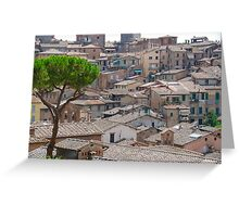 Siena Roofs in summer Greeting Card